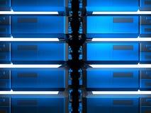 Blauwe futuristische bouw Royalty-vrije Illustratie