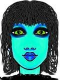 Blauwe Gal stock illustratie