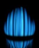 Blauwe gasvlam Royalty-vrije Stock Foto's