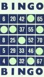 Blauwe geïsoleerde bingokaart Royalty-vrije Stock Afbeeldingen
