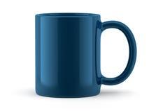 Blauwe Geïsoleerde Mok Stock Afbeelding