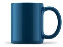 Blauwe Geïsoleerde Mok Stock Foto