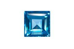 Blauwe geïsoleerde saffier royalty-vrije stock afbeeldingen