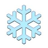 Blauwe geïsoleerde sneeuwvlok Stock Afbeelding