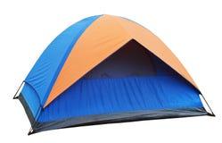 Blauwe geïsoleerde Tent Stock Afbeelding