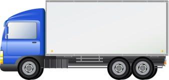 Blauwe geïsoleerde verschepende vrachtwagen Royalty-vrije Stock Afbeelding