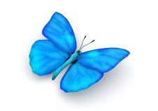 Blauwe Geïsoleerdei Vlinder royalty-vrije illustratie