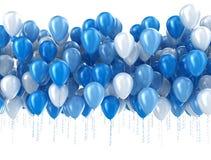 Blauwe geïsoleerdet ballons Stock Foto's
