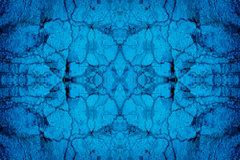 Blauwe gebarsten muurachtergrond Stock Foto