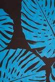 Blauwe gebladerteachtergrond Stock Afbeeldingen