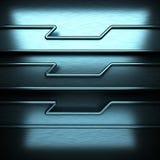 Blauwe geborstelde metaalachtergrond Royalty-vrije Stock Afbeelding