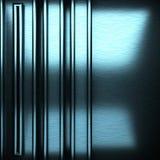 Blauwe geborstelde metaalachtergrond Stock Foto