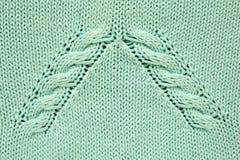 Blauwe gebreide textuur Royalty-vrije Stock Afbeelding