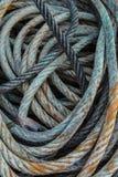 Blauwe Gebruikte kabel Royalty-vrije Stock Afbeelding