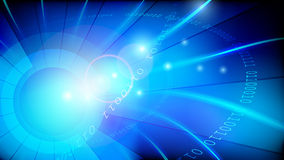 Blauwe gegevensachtergrond Stock Foto's