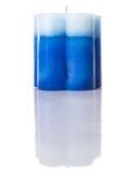 Blauwe Gekleurde Aromatische Kaars II Royalty-vrije Stock Foto