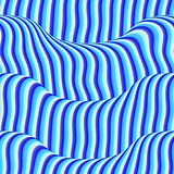 Blauwe gekleurde golven Royalty-vrije Stock Fotografie