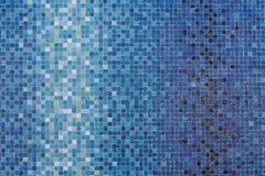 Blauwe gekleurde mozaïekvierkanten Royalty-vrije Stock Foto's