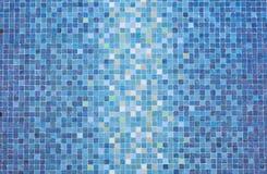 Blauwe gekleurde mozaïekvierkanten Royalty-vrije Stock Fotografie