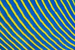 Blauwe gele diagonale vissenstrepen Royalty-vrije Stock Afbeeldingen