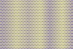 Blauwe gele gestippelde halftone Diagonale overmaatse gestippelde gradiënt royalty-vrije illustratie