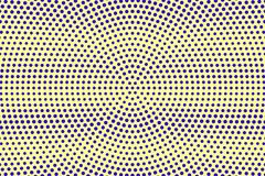 Blauwe gele gestippelde halftone Radiale dunne gestippelde gradiënt Halftintachtergrond stock illustratie