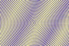 Blauwe gele gestippelde halftone Radiale gecentreerde gestippelde gradiënt Halftintachtergrond vector illustratie