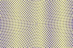 Blauwe gele gestippelde halftone Verticale rond gestippelde gradiënt Halftintachtergrond stock illustratie