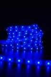 Blauwe Geleide streep stock fotografie