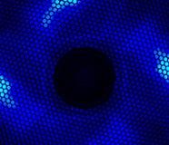 Blauwe geleide ventilator Stock Foto