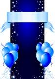 Blauwe gelukkige kaart Royalty-vrije Stock Foto's