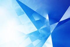 Blauwe geometrische achtergrond Royalty-vrije Stock Fotografie