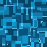 Blauwe geometrische bacground Stock Afbeelding
