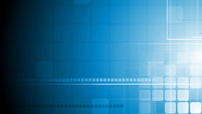 Blauwe geometrische technologie videoanimatie