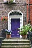 Blauwe Georgische deur, Dublin, Ierland Royalty-vrije Stock Afbeeldingen