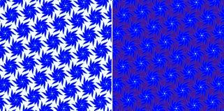 Blauwe geplaatste bloemen Royalty-vrije Stock Afbeeldingen