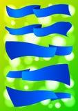 Blauwe geplaatste linten vector illustratie