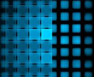 Blauwe geregelde fractals op de zwarte achtergrond Royalty-vrije Stock Afbeeldingen
