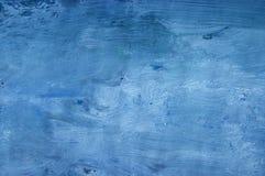 Blauwe geschilderde achtergrond Royalty-vrije Stock Afbeeldingen