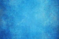 Blauwe geschilderde canvas of mousseline de studioachtergrond van de stoffendoek royalty-vrije stock afbeeldingen