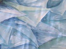 Blauwe geschilderde samenvatting stock afbeelding