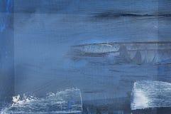 Blauwe geschilderde samenvatting royalty-vrije stock afbeelding
