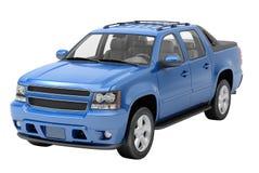 Blauwe geïsoleerde bestelwagen Royalty-vrije Stock Afbeelding