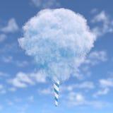 Blauwe gesponnen suiker royalty-vrije illustratie