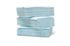 Blauwe gevouwen papieren zakdoekjes Royalty-vrije Stock Fotografie