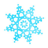 Blauwe geweven die sneeuwvlok op wit wordt geïsoleerd Royalty-vrije Stock Foto's