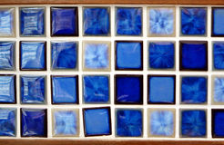Blauwe geweven mozaïekachtergrond Royalty-vrije Stock Afbeeldingen