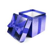 Blauwe giftdoos Royalty-vrije Stock Afbeelding