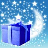 Blauwe giftdoos royalty-vrije stock foto's