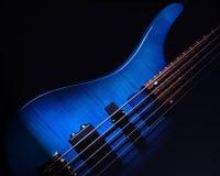 Blauwe Gitaar Stock Fotografie